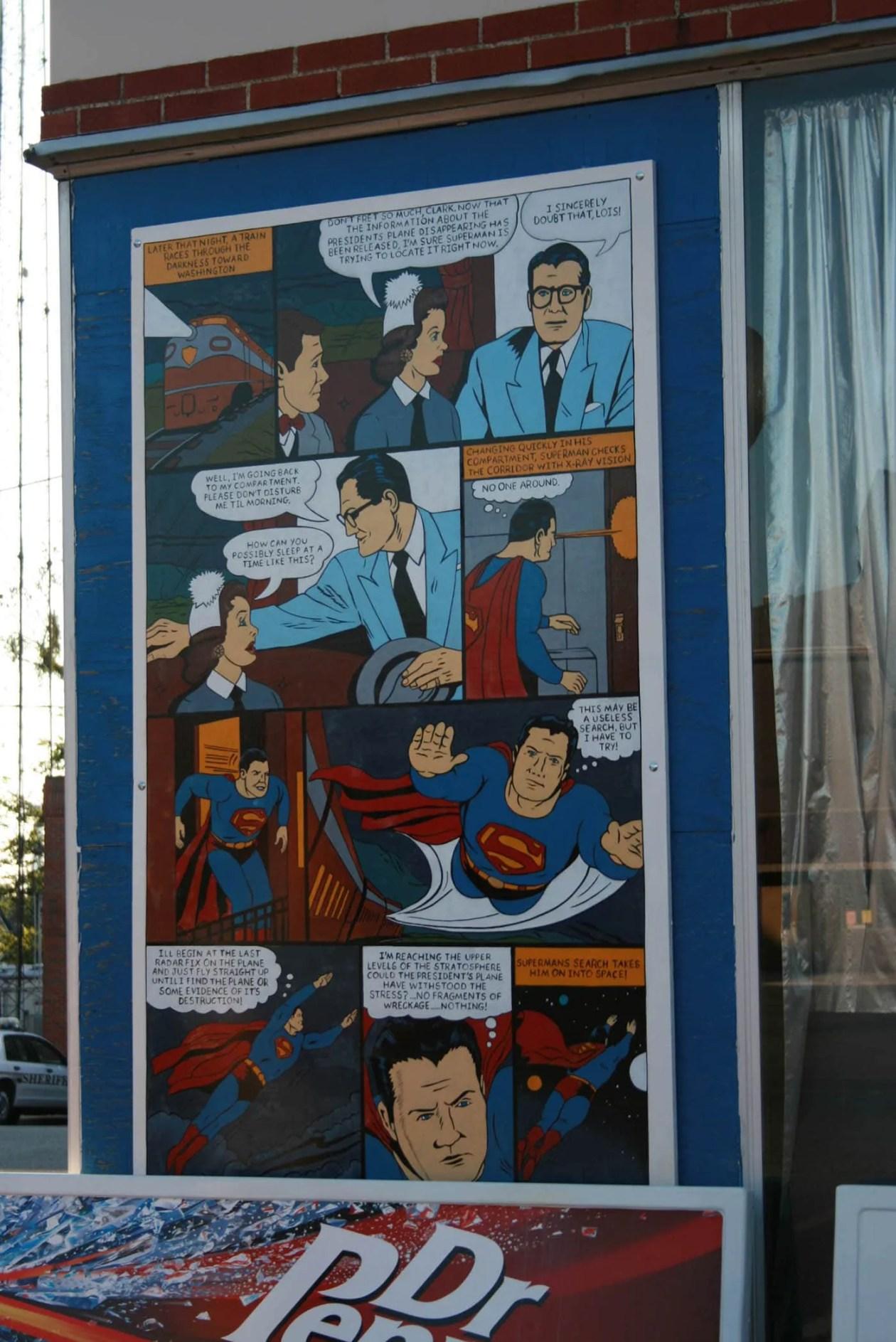 Comic Book in Superman Square in Metropolis, Illinois