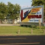 Welcome sign: Metropolis, Illinois: Home of Superman