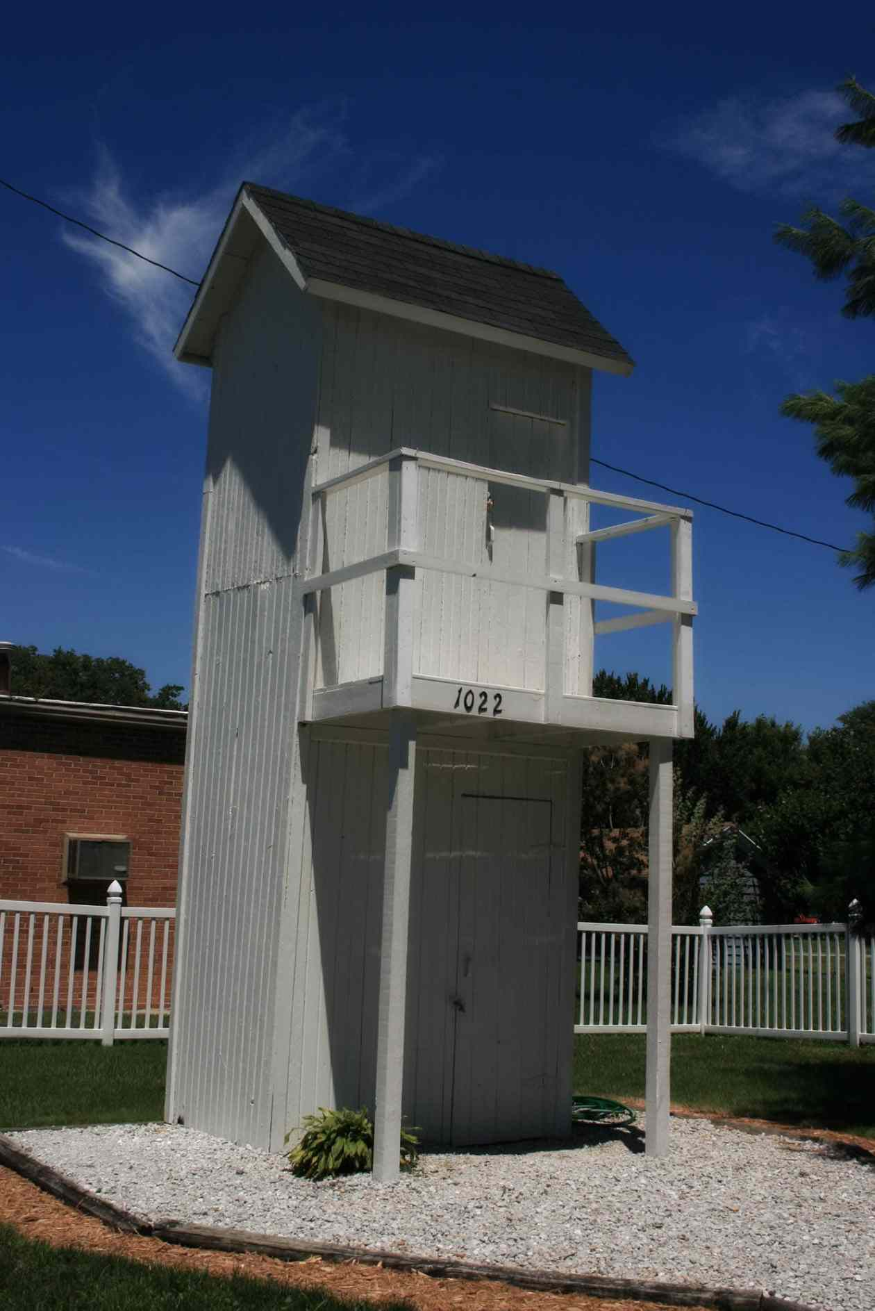 Two Story Outhouse In Gays Illinois Silly America