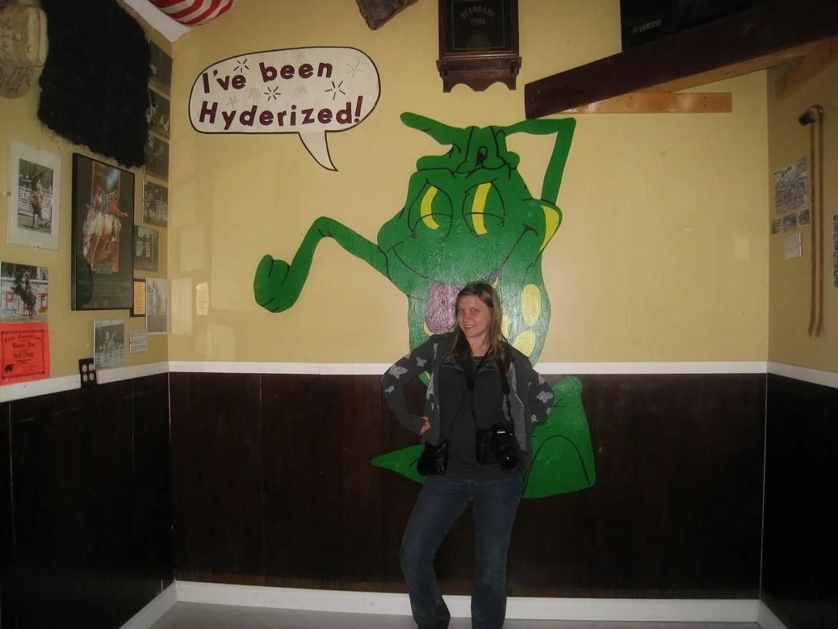 Getting Hyderized at the Glacier Inn in Hyder, Alaska