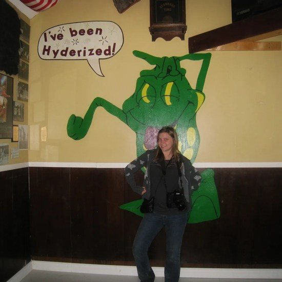 VICTORY! I was Hyderized at the Glacier Inn in Hyder, Alaska.