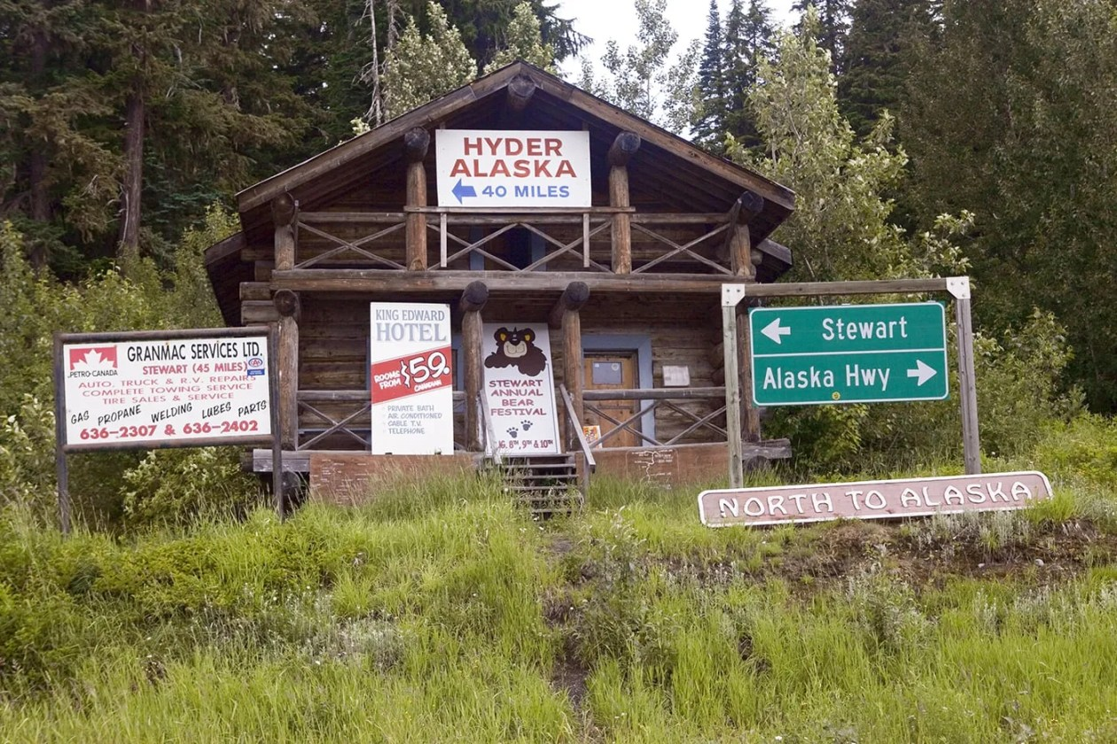 Meziadin Junction, a Hyder, Alaska Visitor Information Center, in British Columbia, Canada.