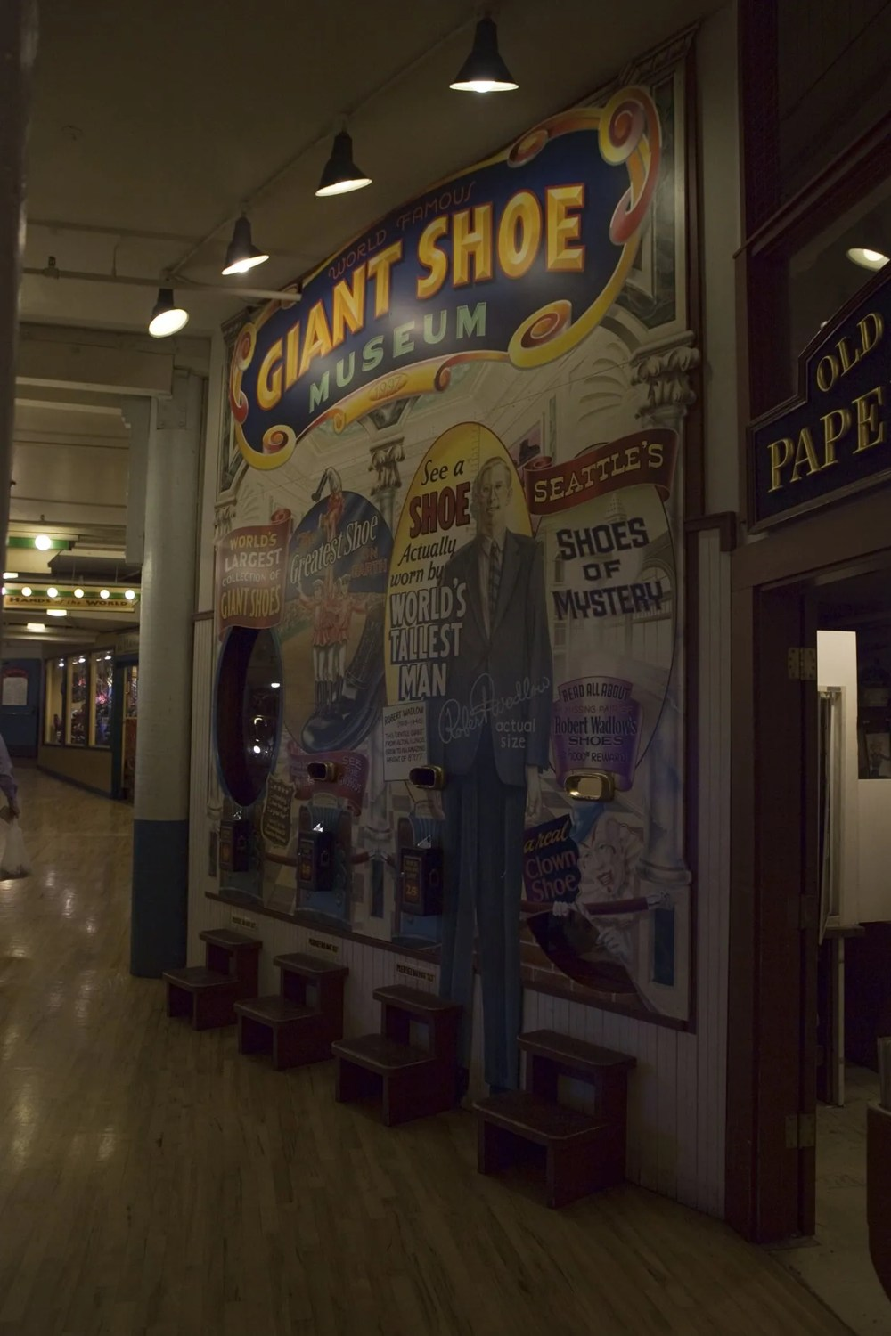 The World Famous Giant Shoe Museum in Pike Place Market in Seattle, Washington.