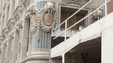 Walruses on the Arctic Building in Seattle, Washington