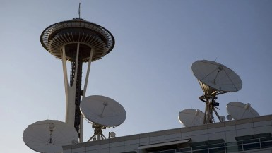The Space Needle in Seattle, Washington.