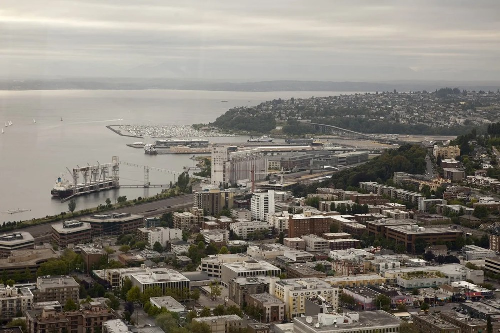 View from the Space Needle in Seattle, Washington.