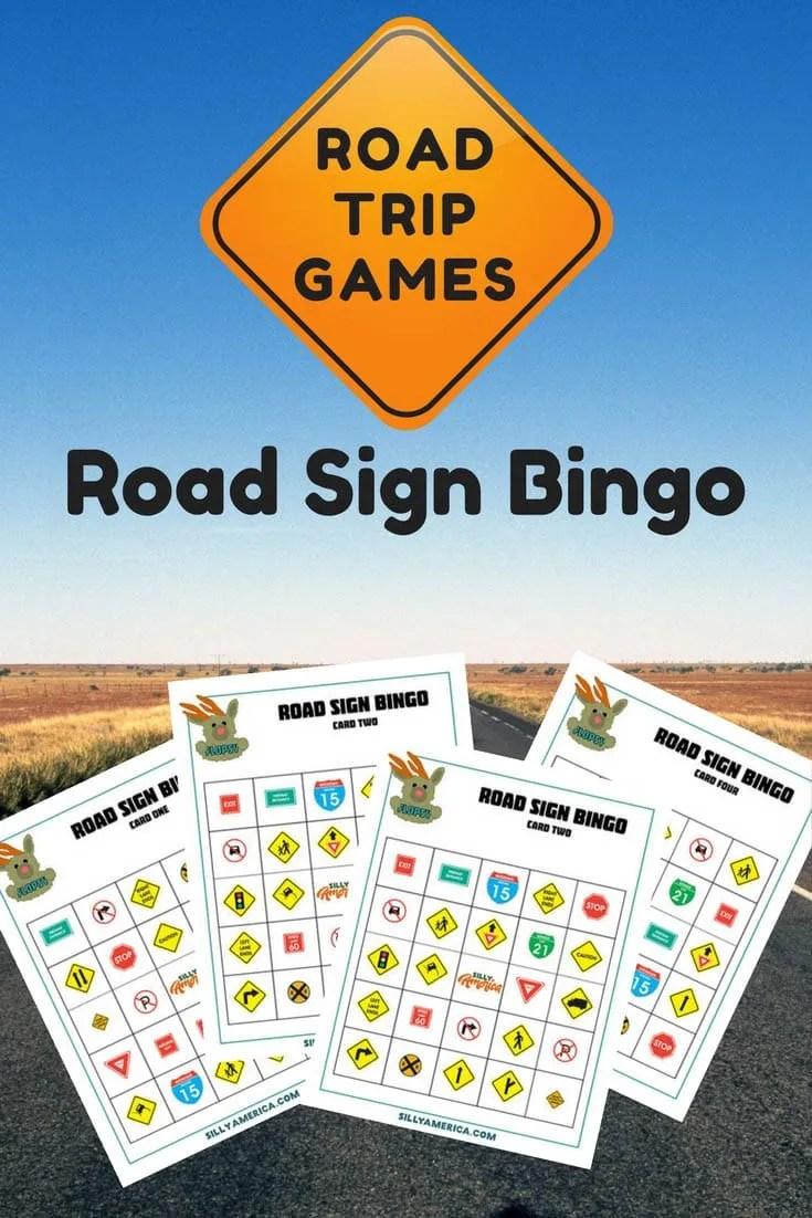 Road Sign Bingo - Road Trip Car Games! Free downloadable sheets.