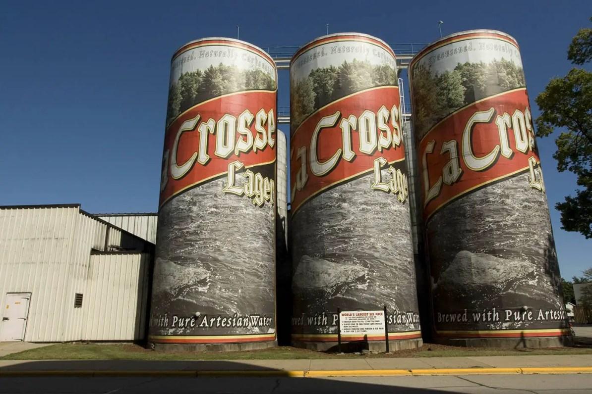 World's Largest Six-Pack of Beer, a roadside attraction in La Crosse, Wisconsin