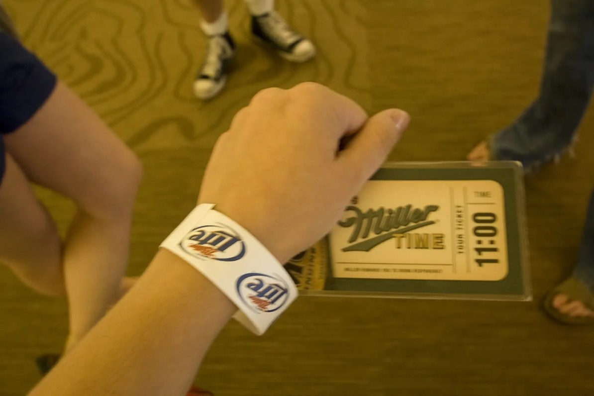 Pass for the Miller Brewery Tour in Milwaukee, Wisconsin