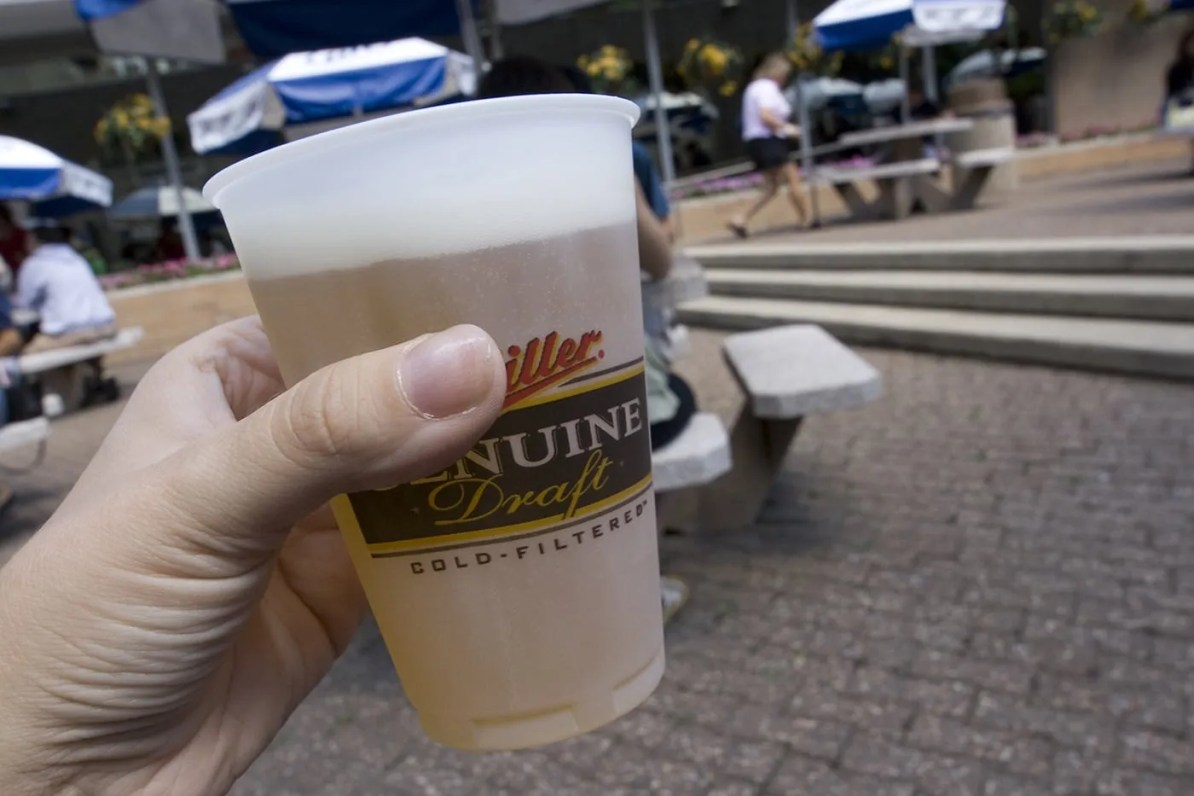Free beer on the Miller Brewery Tour in Milwaukee, Wisconsin