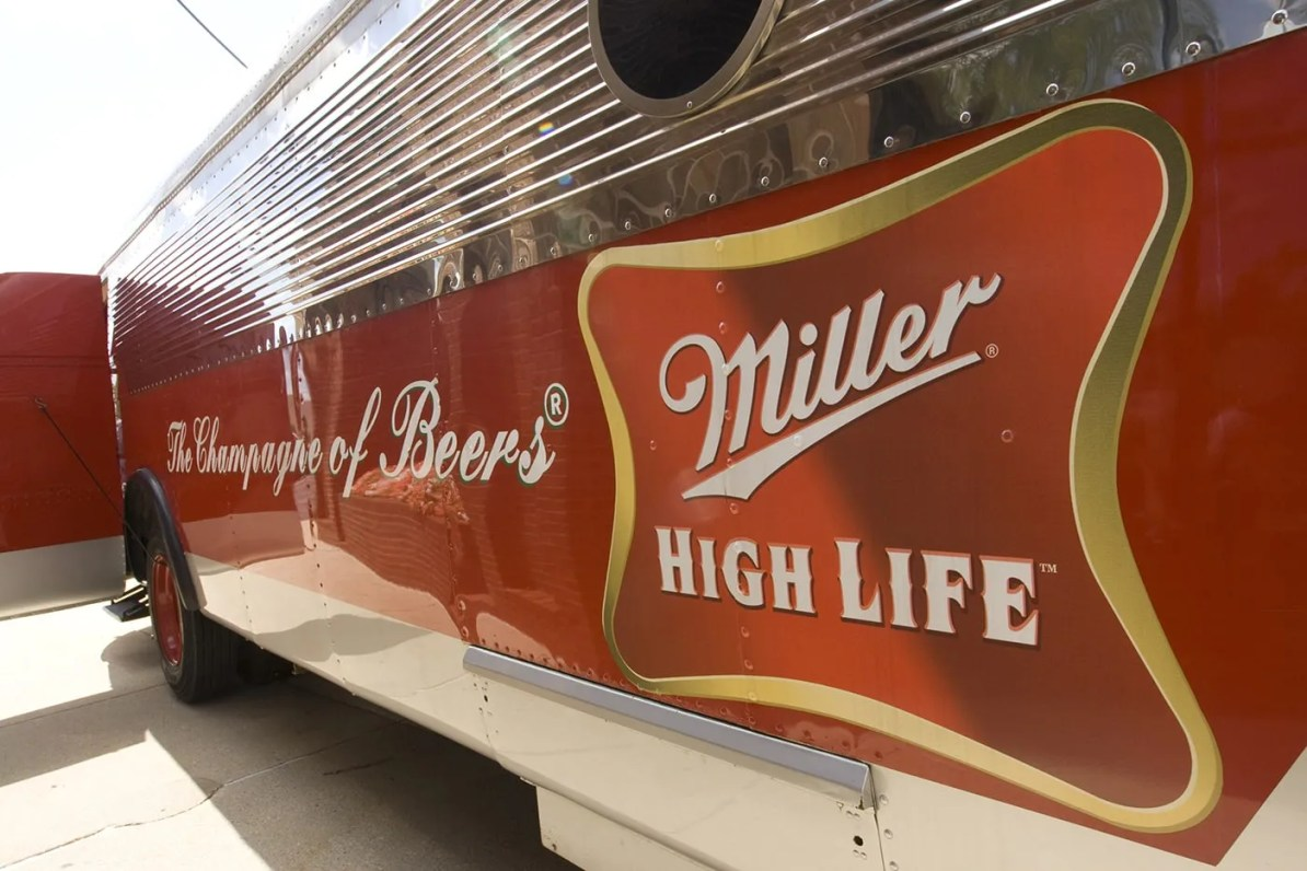 High Life Bus at the Miller Brewery Tour in Milwaukee, Wisconsin