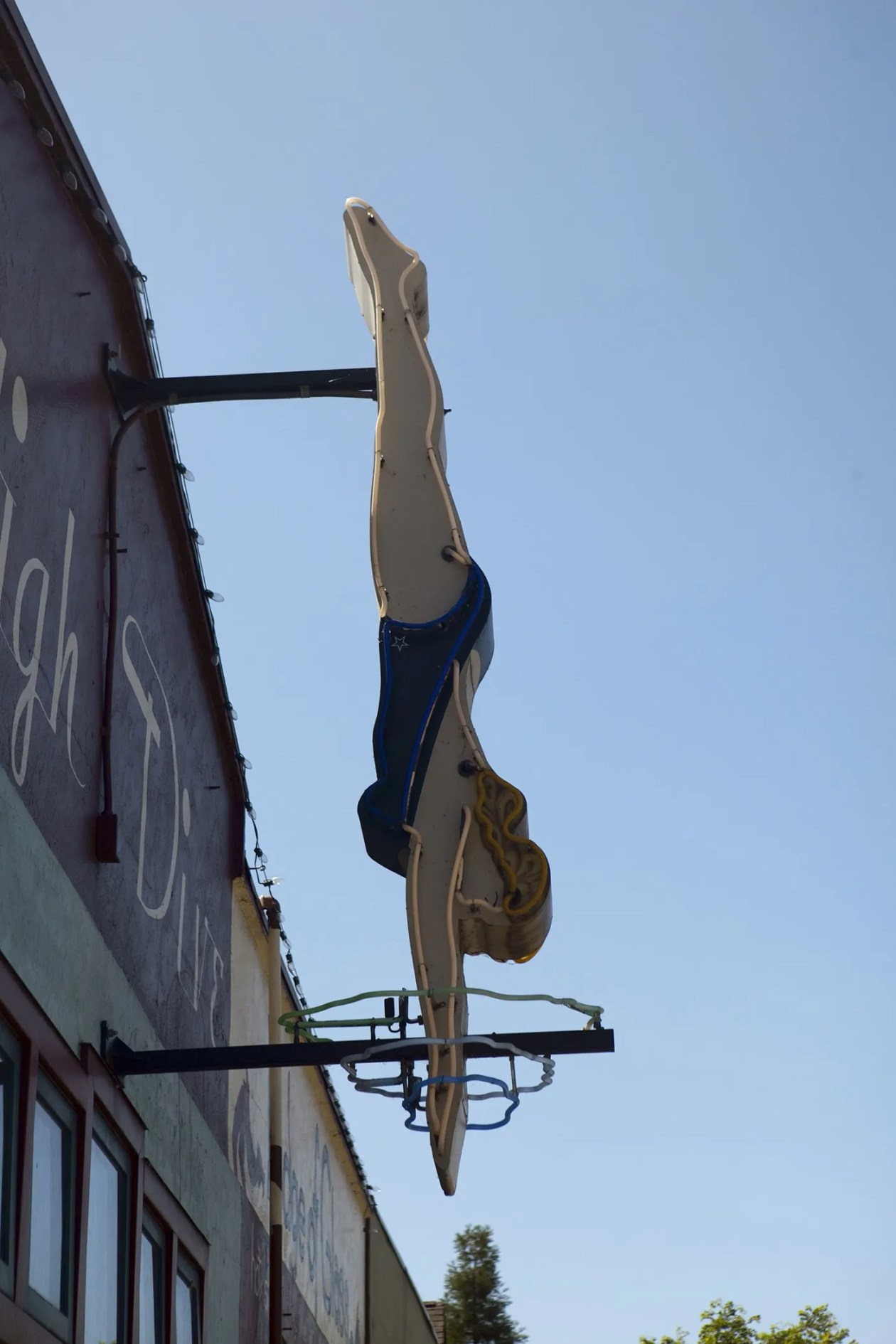 Fremont High Dive sign in the Fremont neighborhood of Seattle, Washington.