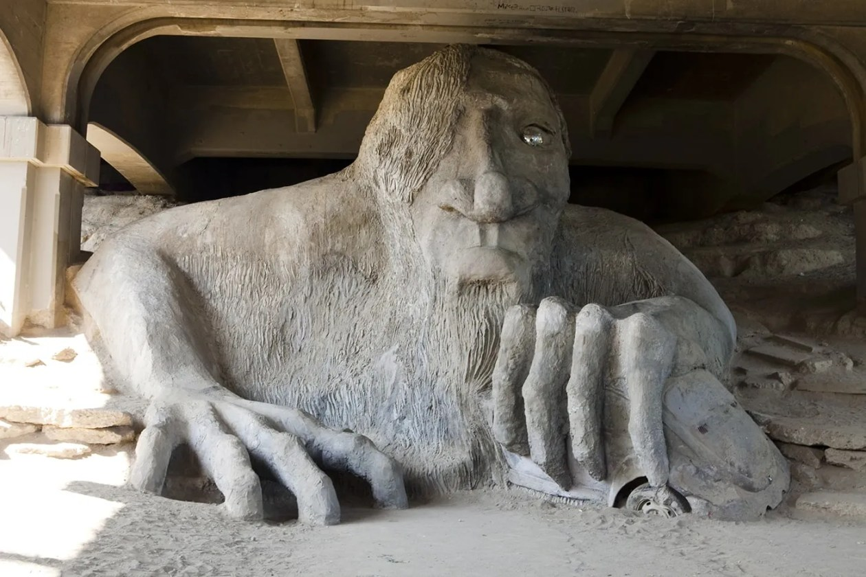 The Fremont Troll in Seattle, Washington - Silly America