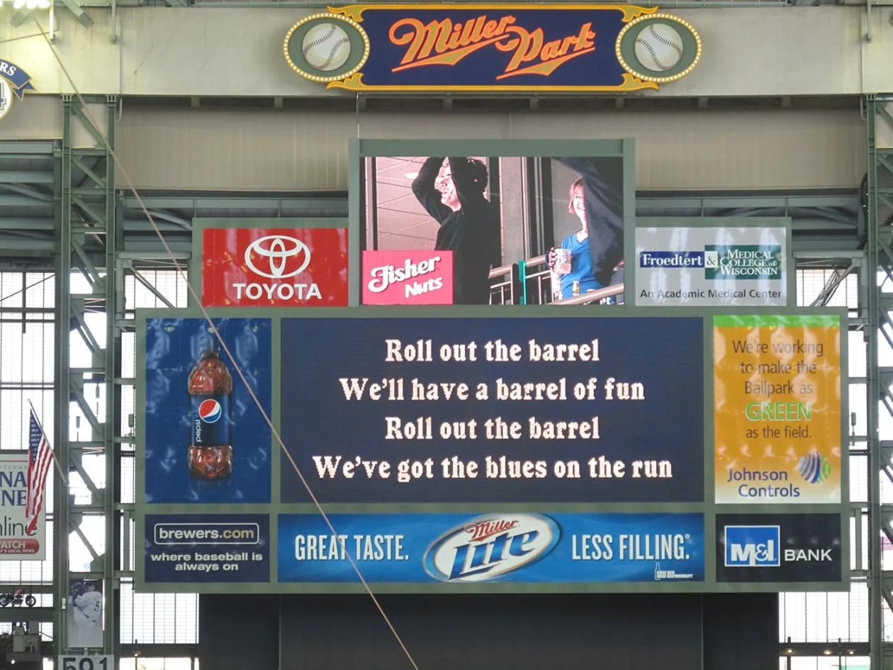 Roll out the barrel at a Brewers game at Millers Park in Milwaukee.