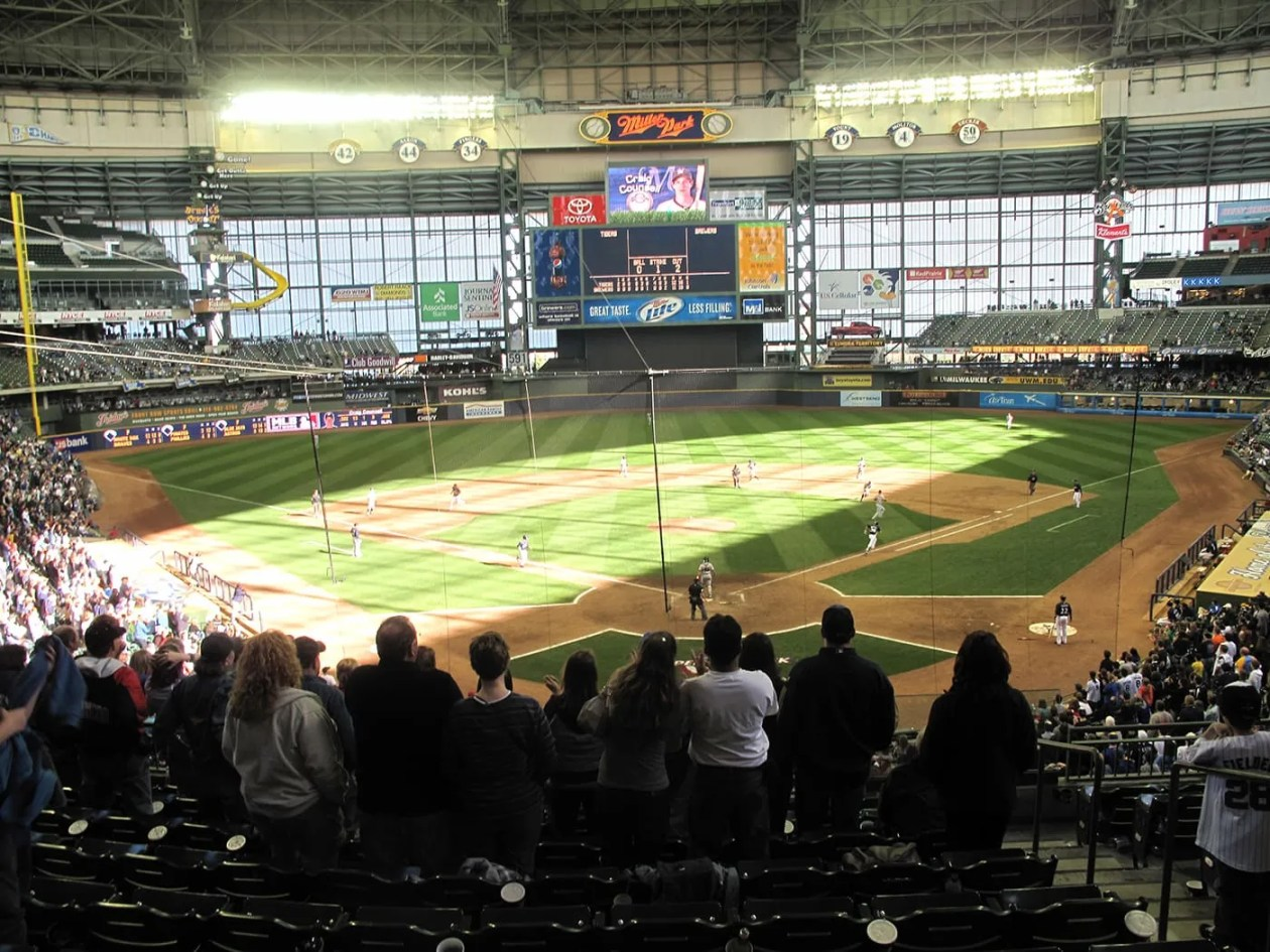 Brewers game at Millers Park in Milwaukee.