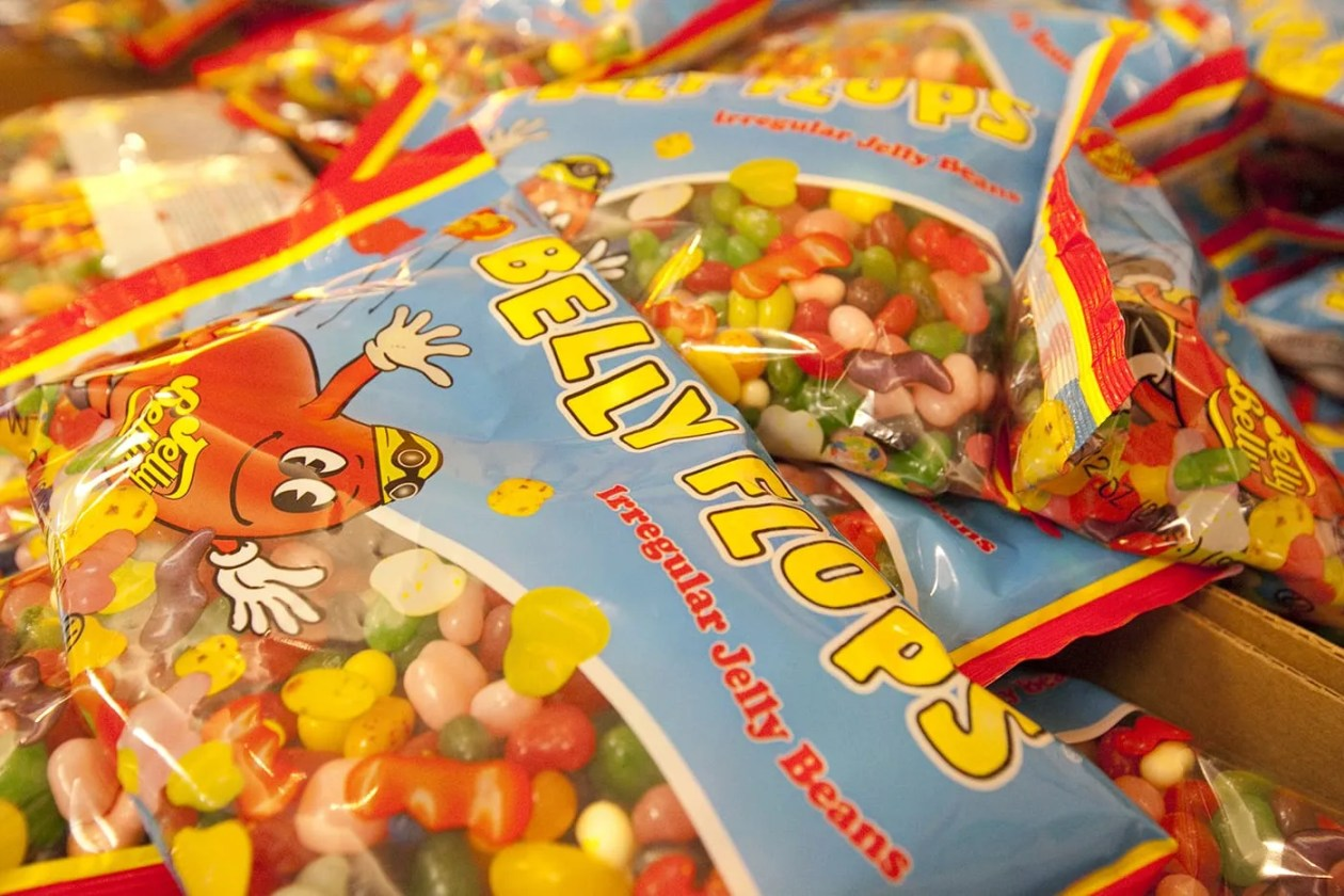 Belly Flops irregular shaped Jelly Bellys from the Jelly Belly Tour in Pleasant Prairie, Wisconsin
