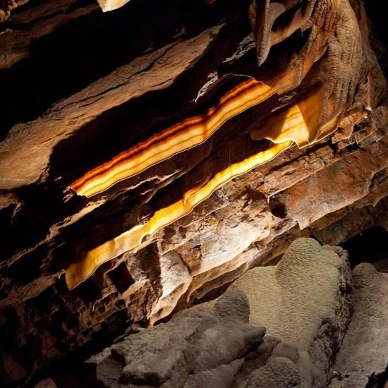 Bacon formations at Shenandoah Caverns in Virginia