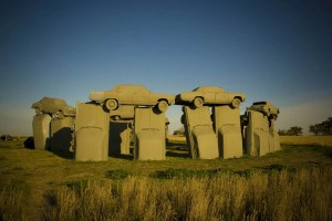 Carhenge, a Stonehenge replica made from cars, in Alliance, Nebraska - Roadside Attractions in Nebraska
