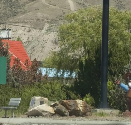 Cariboo Sam - Gold Miner Statue in Cache Creek, British Columbia, Canada