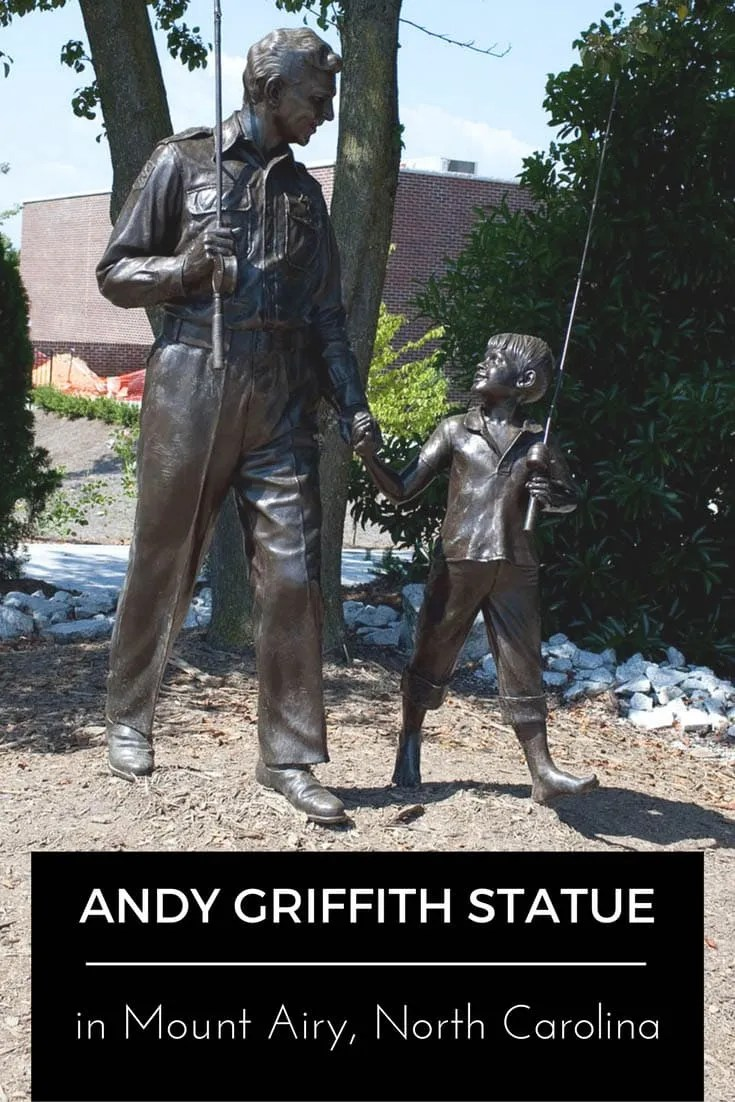 Andy Griffith Statue in Mount Airy, North Carolina - Home of Mayberry