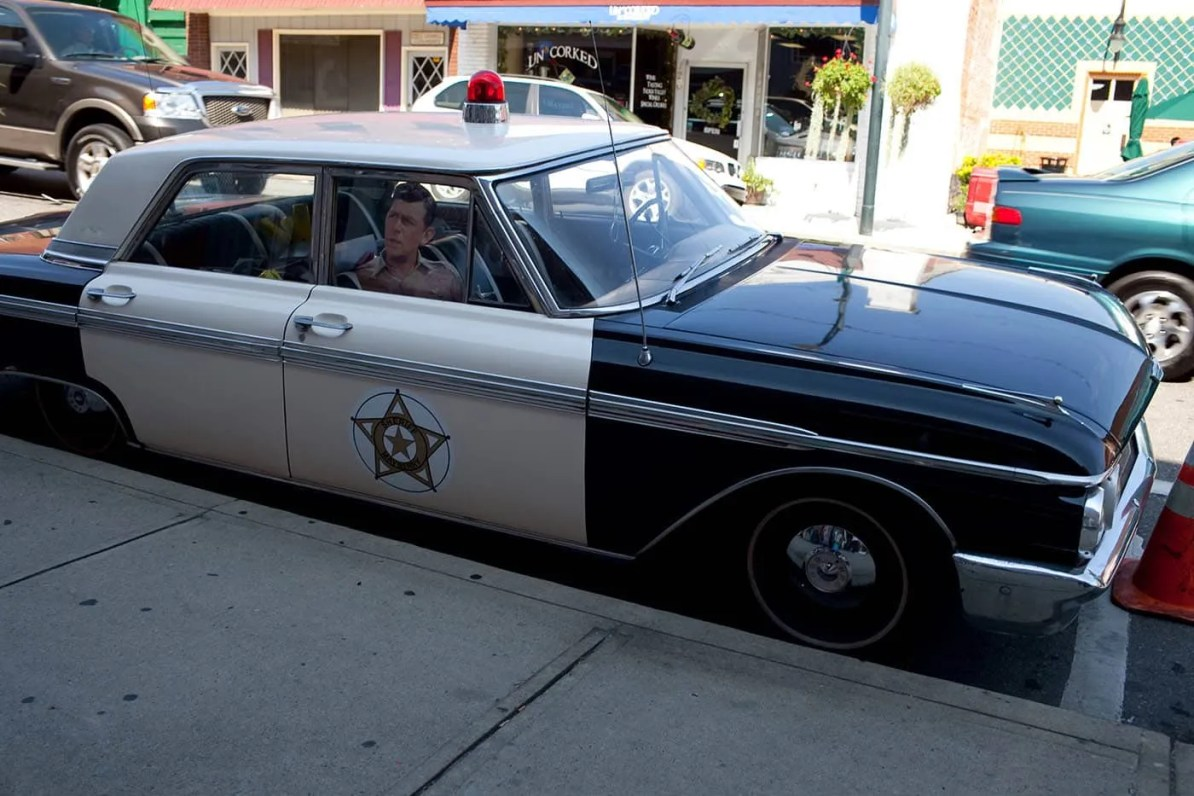 Sheriff's Car in Mount Airy, North Carolina - Home of Mayberry and Andy Griffith