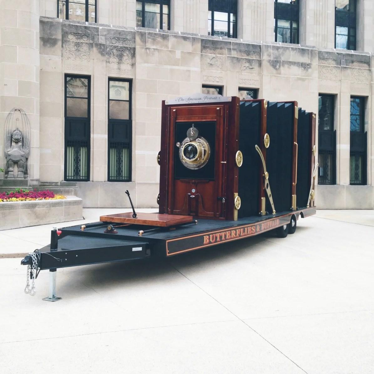 Dennis Manarchy's World's Largest Film Camera in Chicago