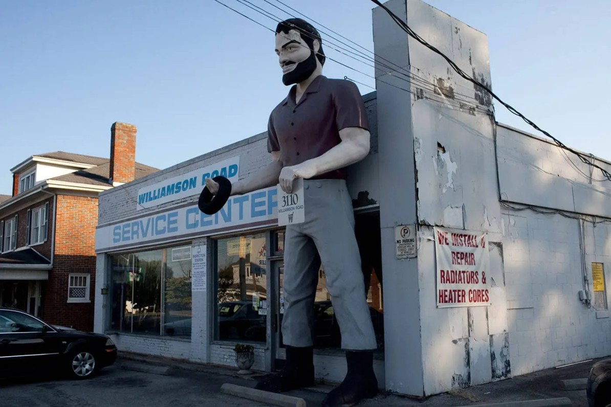 Muffler Man in Roanoke, Virginia