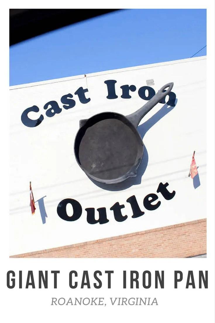 Giant cast iron pan in Roanoke, Virginia