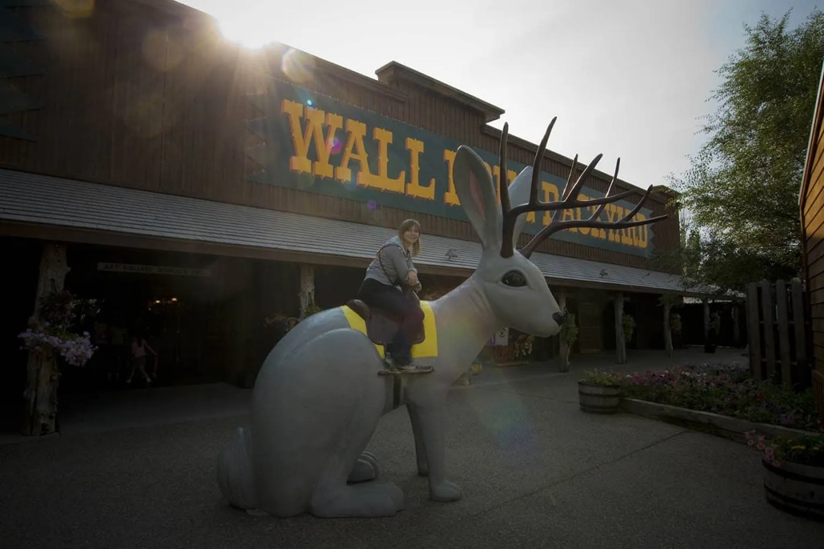 Ride the Jackalope at Wall Drug Store in Wall, South Dakota