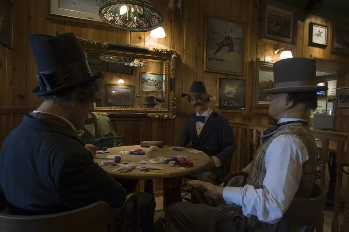 Old Time Poker Game Wax Museum  at Wall Drug Store in Wall, South Dakota