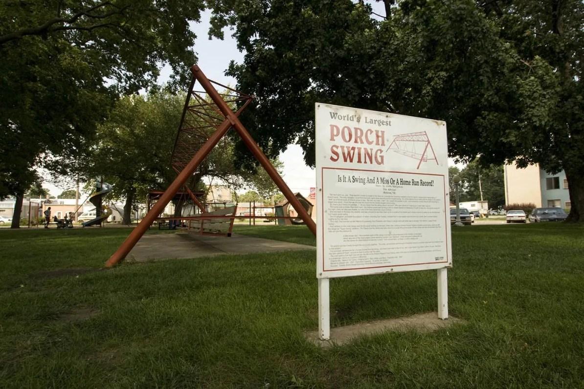 World's Largest Porch Swing in Hebron, Nebraska