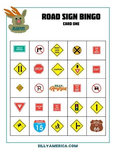 Download Road Sign Bingo - Card 1