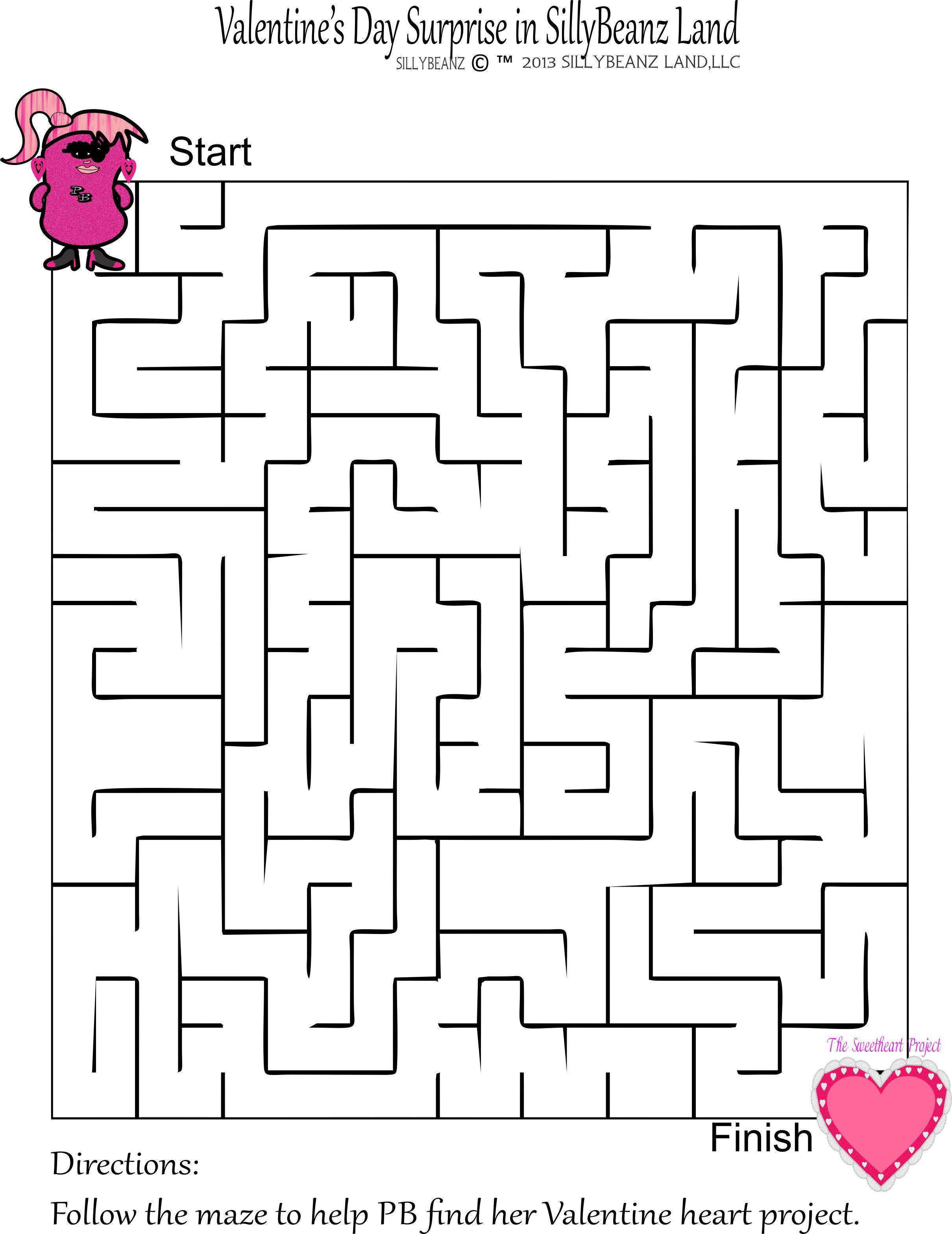 Free Valentine S Day Maze