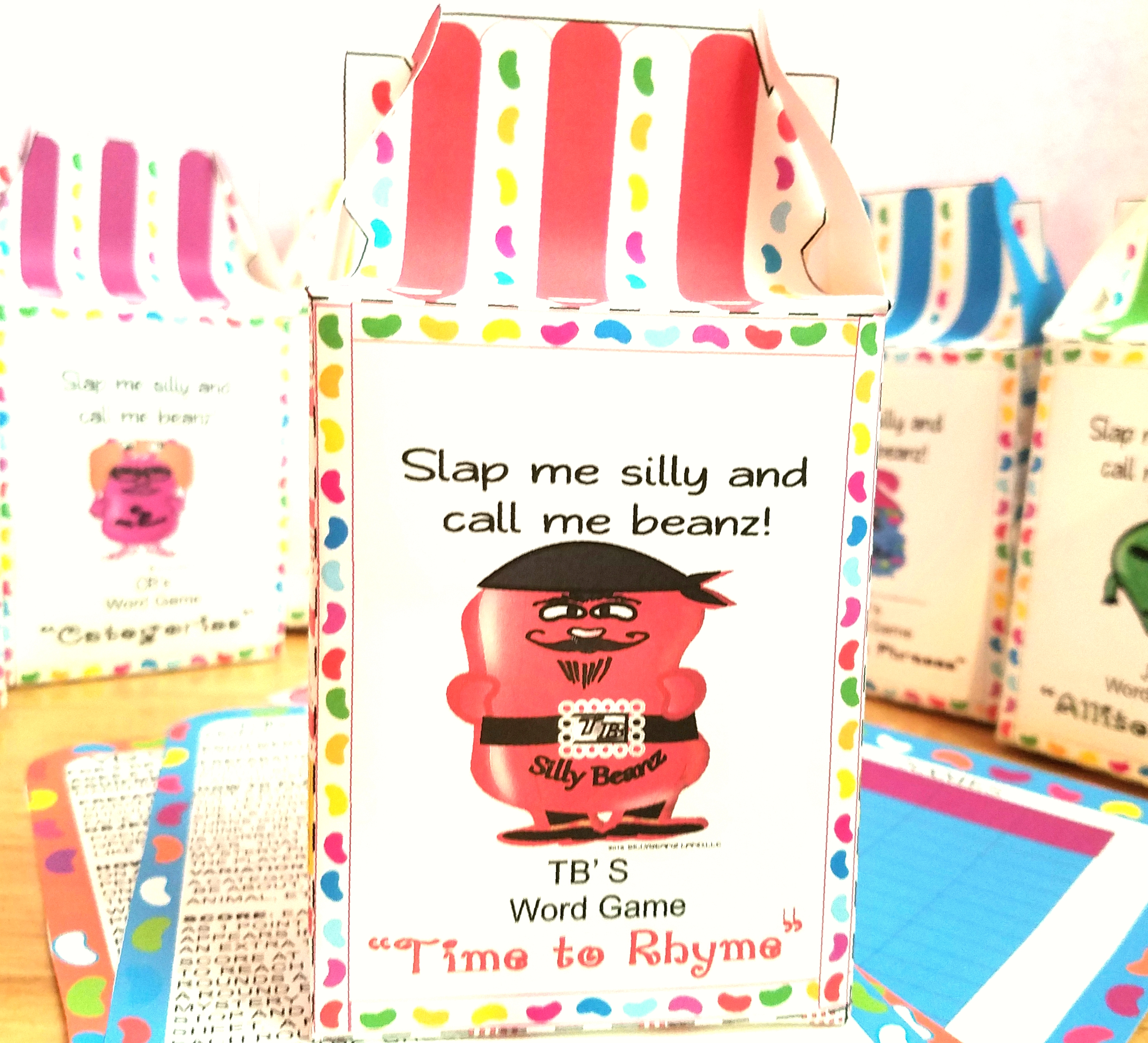 Sillybeanz Free Printable Word Game Time To Rhyme