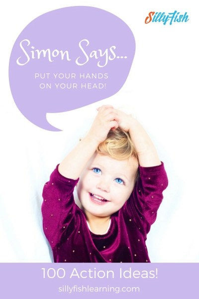 Classic Preschool Drama Game   Simon Says. We've compiled a list of 100 actions for those moments when you're just drawing a blank!