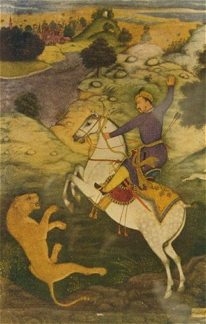 emperor babur hunting