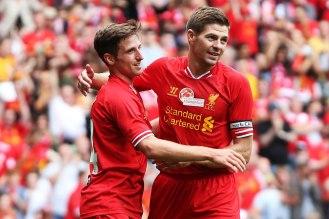 Steven Gerrad celebrating his goal