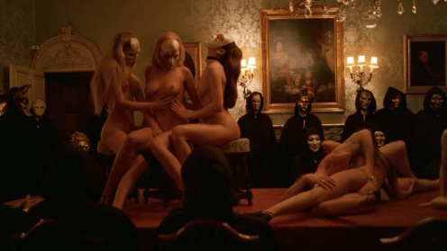 Mass orgy scene from Eyes Wide Shut