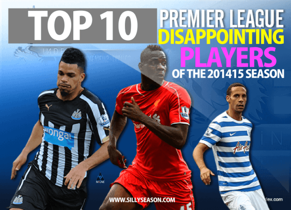 10 Most Disappointing Premier League Players of The 2014-15 Season