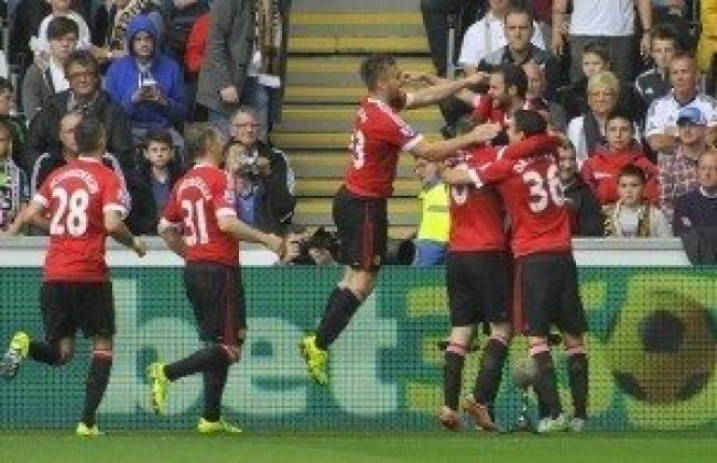 Fotboll, Premier League, Swansea City - Manchester United