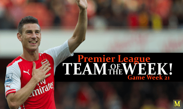 Premier League Team Of The Week - Game Week 21 - 2016/17