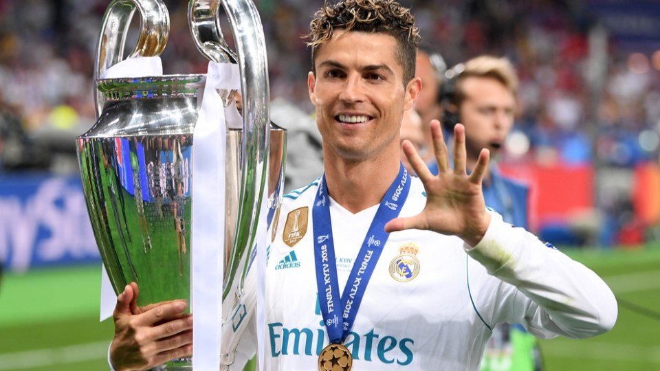 Ronaldo first to win five Champions League titles