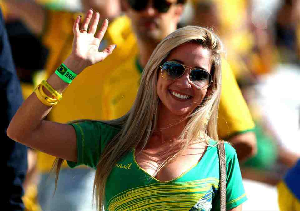 Countries With The Hottest Female Football Fans Brazil hot fans