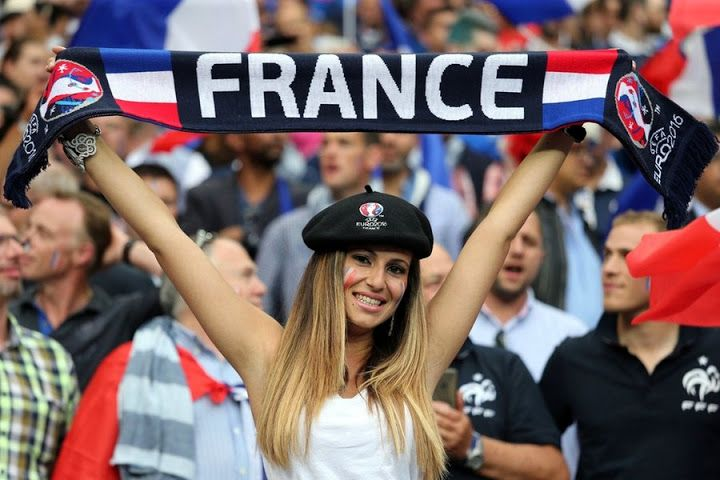 French football fans stunning female France football fans