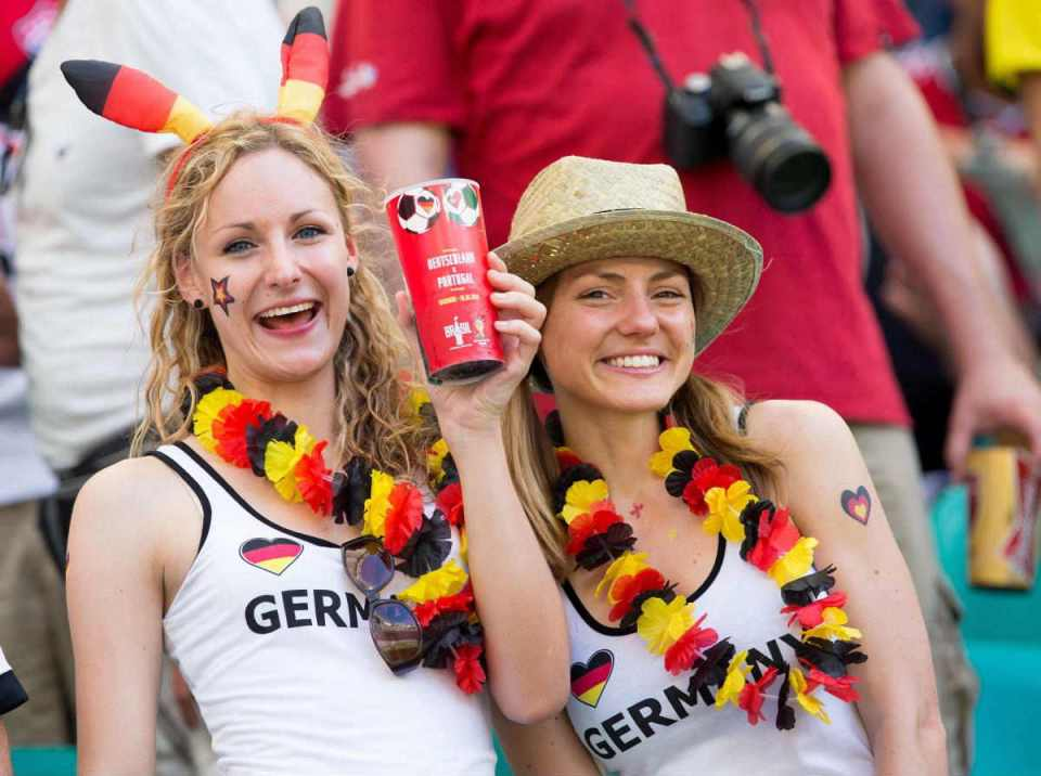 images, pictures and photos of beautiful and sexy German girls and female Germany Fans In World Cup 2018
