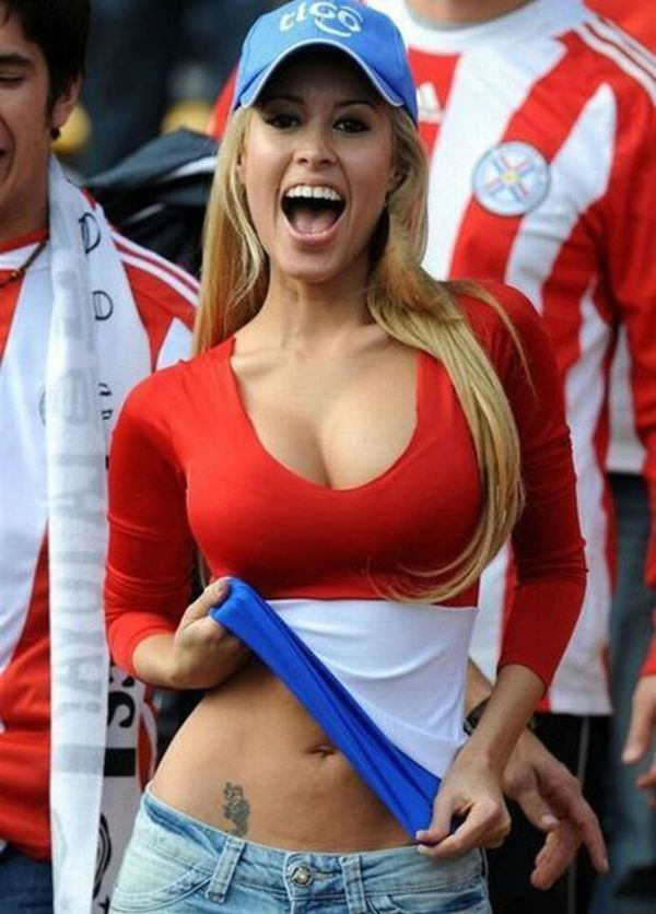 World Cup Teams With The sexiest Football Fans Paraguay hot fans Paraguayan girls World Cup
