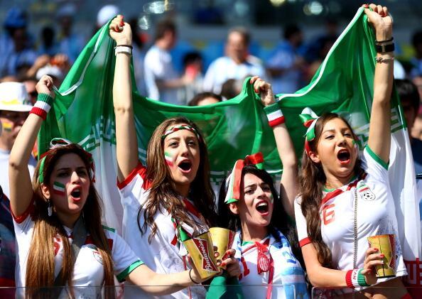 hottest fans World Cup 2014-2018- Beautiful Iran female football fans