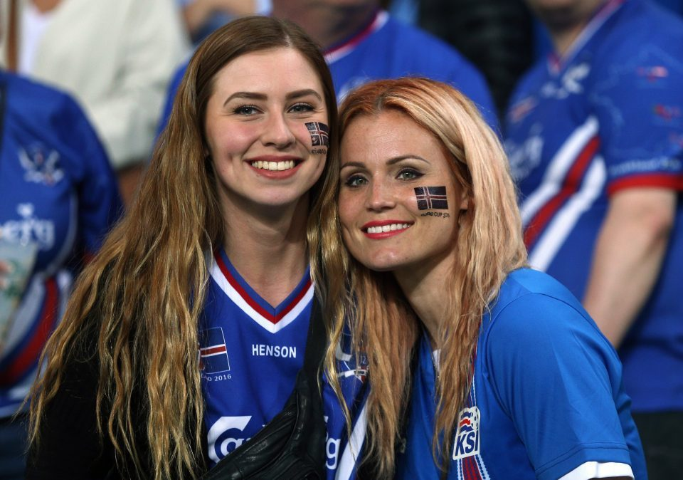 Images, Pictures and Photos of Beautiful, Sexy and Hot Iceland girls - Icelandic Female Fans In World Cup 2018