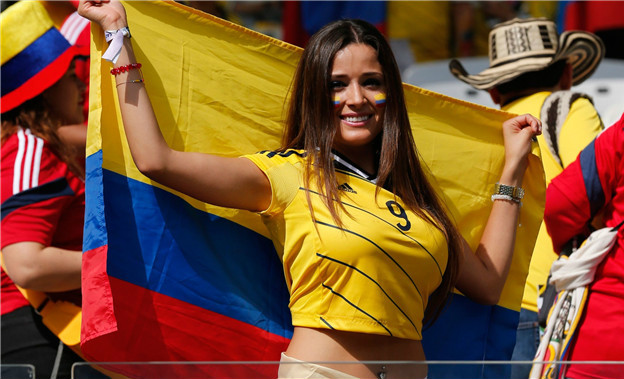 most gorgeous soccer fans Colombia