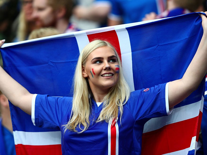 most gorgeous soccer fans Iceland
